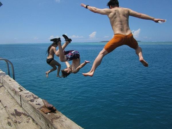 flipping off pier
