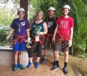 Dailey family ready to go zip lining
