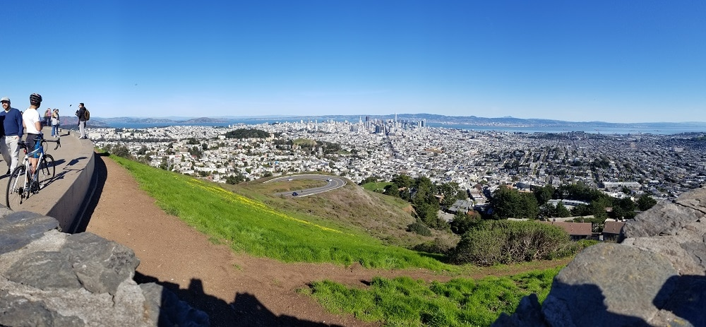 View of San Francisco from Twin Peaks