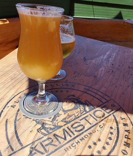 beer on table with armistice logo